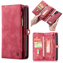 Leather Wallet Flip Cover For Samsung  Note 8 9 10 S8 S9 S10 S20 Note20 Plus A51 A30 A40 A50 A70 Multi Functional Magnetic Cases