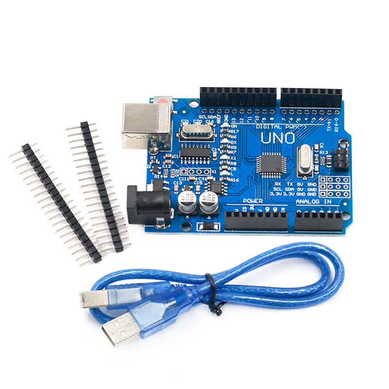 High Quality One Set UNO R3 CH340G+MEGA328P Chip 16Mhz For Arduino UNO R3 Development Board