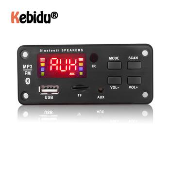 5V 12V moduł MP3 zestaw głośnomówiący Bluetooth 5 0 Radio samochodowe odtwarzacz MP3 płyta dekodera wsparcie nagrywanie FM TF karta SD AUX moduł Audio tanie i dobre opinie kebidu CN (pochodzenie) MP3 WAV 92*41MM Zasilanie zewnętrzne Radio FM 20 godzin Brak MP3 Decoder Board Samochód MP3
