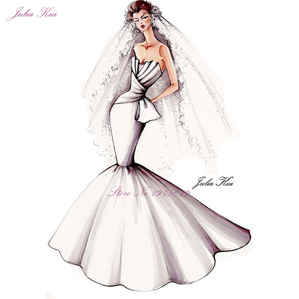 Julia Kui 2019 lien sur mesure de robe de mariée personnaliser les frais nous contacter avant d'acheter