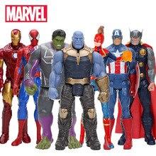 30cm Marvel Avengers Children Anime Figure Toy Doll Captain America Hulk Iron Man Spider-Man Thor Cartoon Action Humanoid Doll