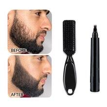 Beard Filling Pen Kit Barber Pencil With Brush Salon Facial Hair Engraving Styling Eyebrow Tool Male Mustache Repair Shape TSLM1