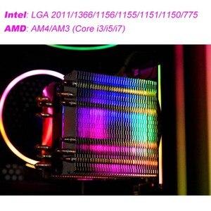Image 2 - Darkflash cpuクーラー 6 ヒートパイプデュアルタワーヒートシンク 3pin 90 ミリメートルファンrgb熱グリースcpu空気冷却器LGA775 115x/1366/2011