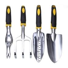 4pcs Mayitr Metal Plant Gardening Shovel Spade Rake Trowel Cultivator Digging Spade Weed Garden Hand Tools стоимость