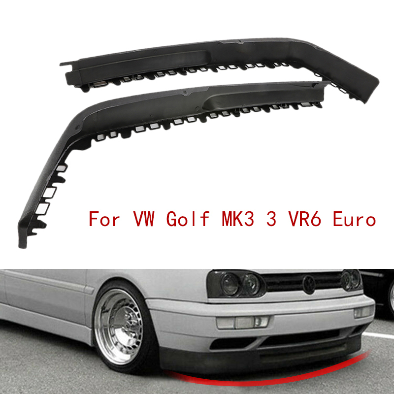 Car Front Big Bumper Chin Spoiler Lip Sport Valance Splitter For <font><b>VW</b></font> <font><b>Golf</b></font> <font><b>MK3</b></font> 3 <font><b>VR6</b></font> Euro Scratch Resistant Wing Auto Accessories image