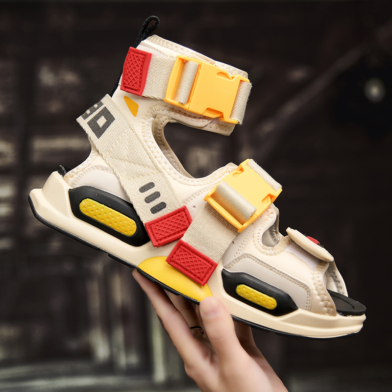 2020 Summer Mens Ankle High Top Shoes Gladiator Sandals Designers Platform Comfortable Beach Sandals Male Canvas Men Sandalss