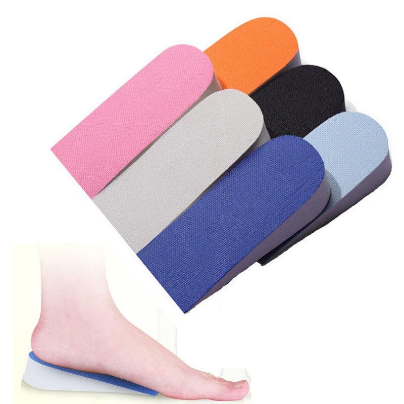Невидимый увеличивающая рост стельки подпяточники ортопедические стельки для обуви на плоской нескользящей мягкой стельки для ног 2,5 см Ли...