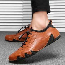 Breathable Genuine Leather Men Casual Shoes Summer Mens Loafers Slip-on Soft Men 's Driving shoes Flats shoes new summer genuine leather slip on shoes men casual breathable mesh shoes men loafers mens sneakers casual loafers men footwear