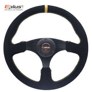 Image 2 - EPLUS Auto Styling Sport Lenkrad Alcanta PVC Universal 14 Inches350MM Aluminium Nachrüstung Geändert Rot GELB