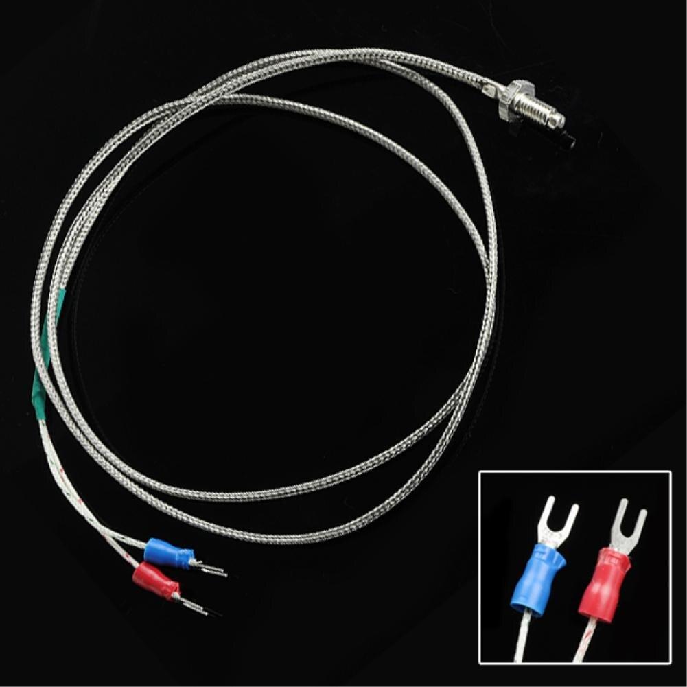 New 1M 3.3ft K Type Sensor Screw Thermocouple Probe 0-800 Centigrade Range 6mm Thread Sensor For Temperature Controller