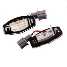 2pcs LED License Plate Light 6000-6500K 18pcs 3528 SMD Direct Signal Lights Fit For Acura TSX MDX For Honda Odyssey 2000-2004 swivel neck thermostat cooling component housing radiator hose for acura honda civic k20 k24 k swap