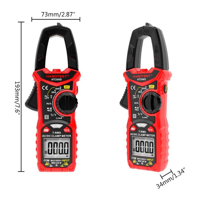 Цифровой мультиметр HT206, высокоточный тестер емкости, бесконтактного напряжения, Ом, Гц, переменного/постоянного тока