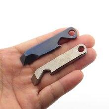 Titan Brecheisen EDC Werkzeug CNC Multi-Funktion TC4 Titan Legierung Flasche Opener Outdoor Tasche Multi Werkzeuge