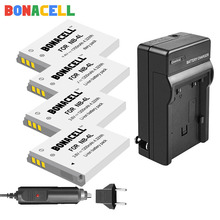 цена на Bonacell 1.2Ah NB-4L NB4L NB 4L Batteries + Charger for Canon IXUS 30 40 50 55 60 65 80 100 I20 110 115 120 130 IS 117 220 225