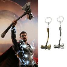 Thor Stormbreaker Hammer Keychain The Avengers Infinity War Tomahawk Keyring цена