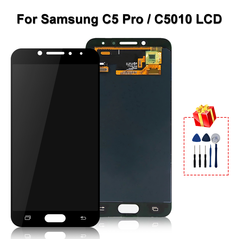 Original <font><b>For</b></font> <font><b>Samsung</b></font> <font><b>Galaxy</b></font> <font><b>C5</b></font> <font><b>Pro</b></font> <font><b>LCD</b></font> C5010 Display Touch <font><b>Screen</b></font> Digitizer Replacement Parts Super AMOLED <font><b>For</b></font> C5010 Display image