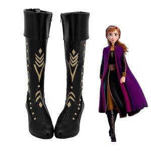 Image 3 - Volwassen Elsa Schoenen Winter Cosplay Queen Elsa Schoenen Anna Boot Prinses Meisje Prinses Schoenen Laars Hoge Laarzen Voor Vrouwen
