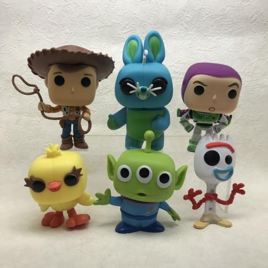 Funko pop figuras filme brinquedo história 4 pçs/set woody buzz lightyear jessie forky pvc figura de ação modelo figura figura criança presente brinquedos boneca