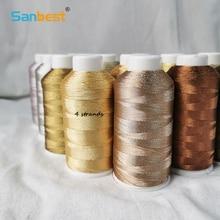 Sanbest 4 Plies Metallic Weaving Thread Handmade DIY Bracelet String Stitch Tatting Weave Yarns High Quality Macrame Threads