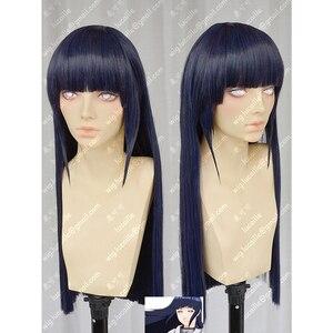 Аниме Наруто Хюга Хината прямые волосы Аккуратные челки Косплей парики + парик шапка