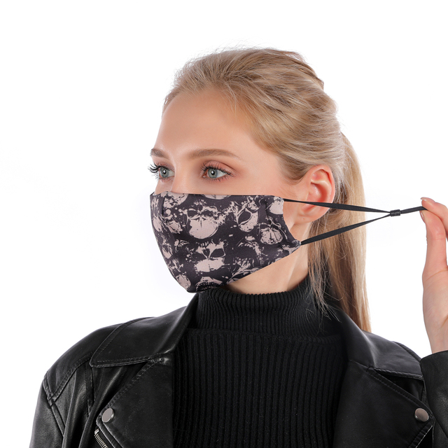 Zohra Printing Reusable Protective PM2.5 Filter mouth Mask anti dust Face mask Windproof Mouth-muffle bacteria proof Flu Mask 2