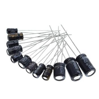 120pcs 1set of 120pcs 12 values 0.22UF-470UF Aluminum electrolytic capacitor assortment kit set pack 3