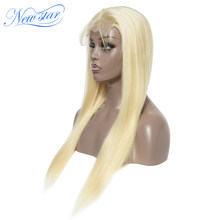 613 Straight Lace Closure Wigs Brazilian Virgin Human Hair Wigs New Star DIY Customized Wig Honey Blonde 613 Wigs For Women(China)