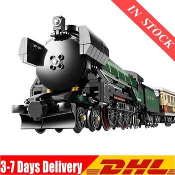 In Stock DHL 02008 Emerald Night Train Remote Control Moc 02009 02117 02118 21005 21006 60052 Blocks Bricks Toys Gifts