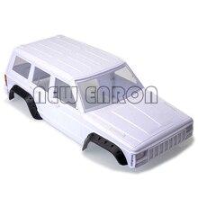 Concha de corpo para carros enron 1:10 rc, concha de 313mm com base de rodas e corpo em plástico resistente para rc 1/10 scx10 e scx10 ii 90046 90047