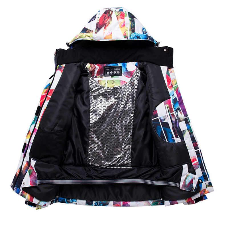 Wanita Ski Suits New Snowboard Jacket & Pants Set Musim Dingin Olahraga Salju Ski Cocok untuk Wanita-30 Derajat tahan Air Tahan Air