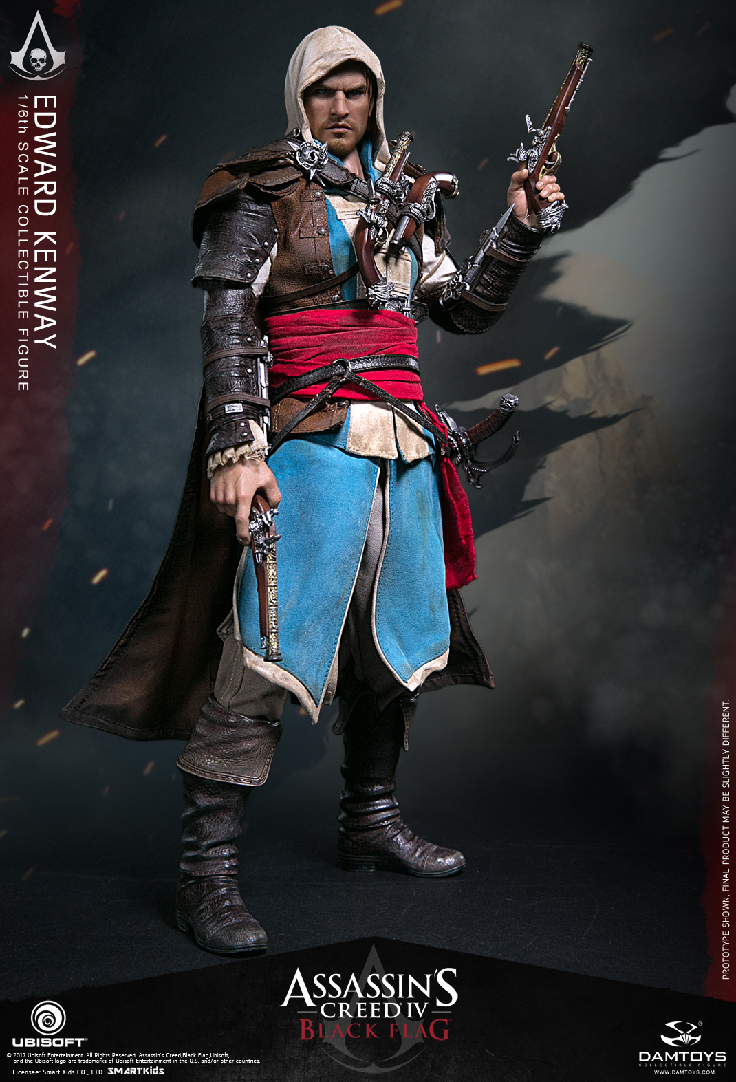 1 6 Ultra Flexible Figure Doll Assassin Creed Black Flag Edward