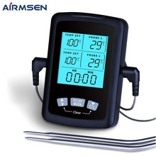 AIRMSEN Food Thermometer Digital Kitchen Thermometer Meat Water Milk Cooking Probe BBQ Electronic Oven Waterproof Kitchen Tools