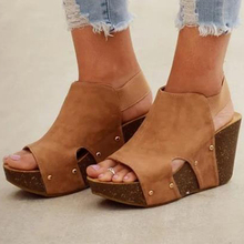 Women Sandals Fish Mouth Platform High Heels Wedge Sandals s