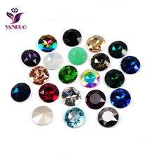 YANRUO 1201 Round 27mm Big Glass Beads Diamond Craft and Diy Sewing Decoration Glitter Supplies