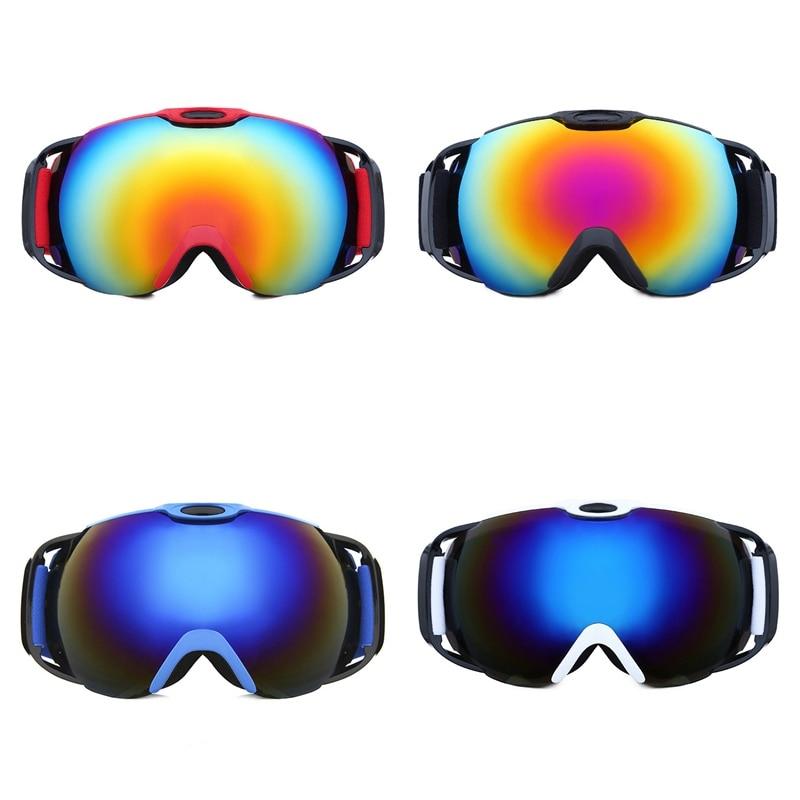 Men Women Adjustable Skiing Eyewear Snow Goggles Double-layer Anti-fog Ski Glasses Spherical Lens Snow Eyewear Cycling Glasses