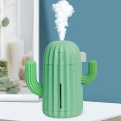 340mL Cactus LED Home USB Charging nawilżacz powietrza Aroma dyfuzor olejków eterycznych wyposażony w kolorowe światła oddechowe w Nawilżacze powietrza od AGD na