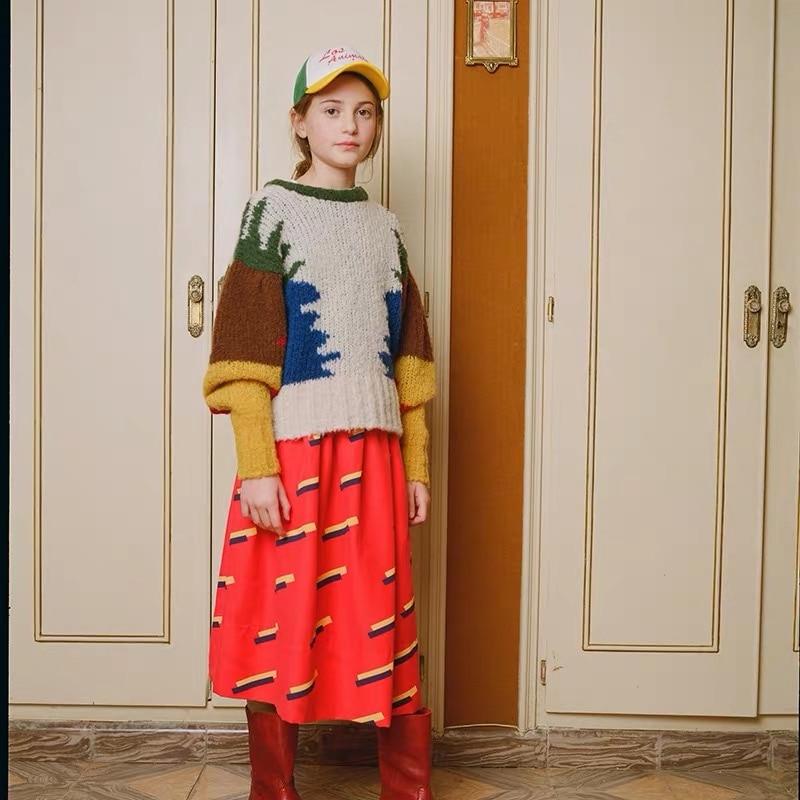 New Autumn Winter TAO Brand Girls Sweaters Long Sleeve Baby Christmas Sweater Kids Cardigan Coats Warm Boys Cardigan Clothes 3