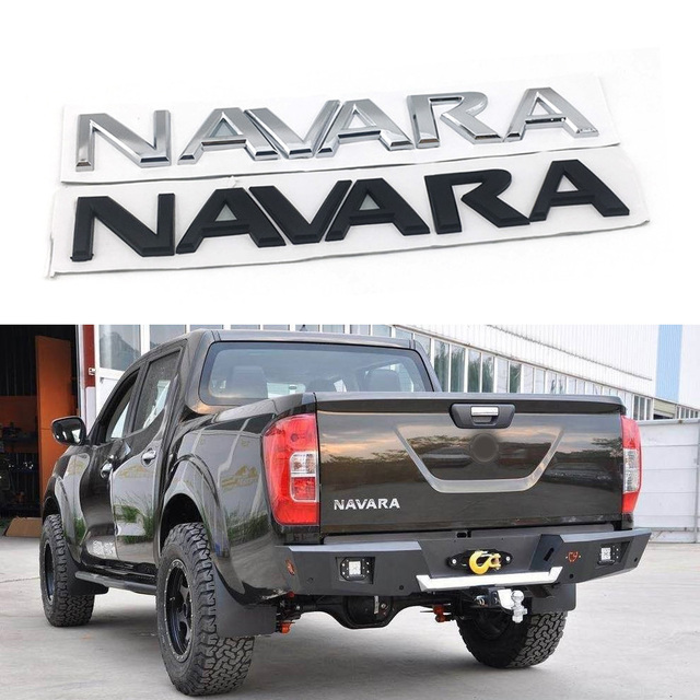 For Nissan Frontier Navara D40 Logo Emblems Rear Tail Back Sticker Letters Nameplate