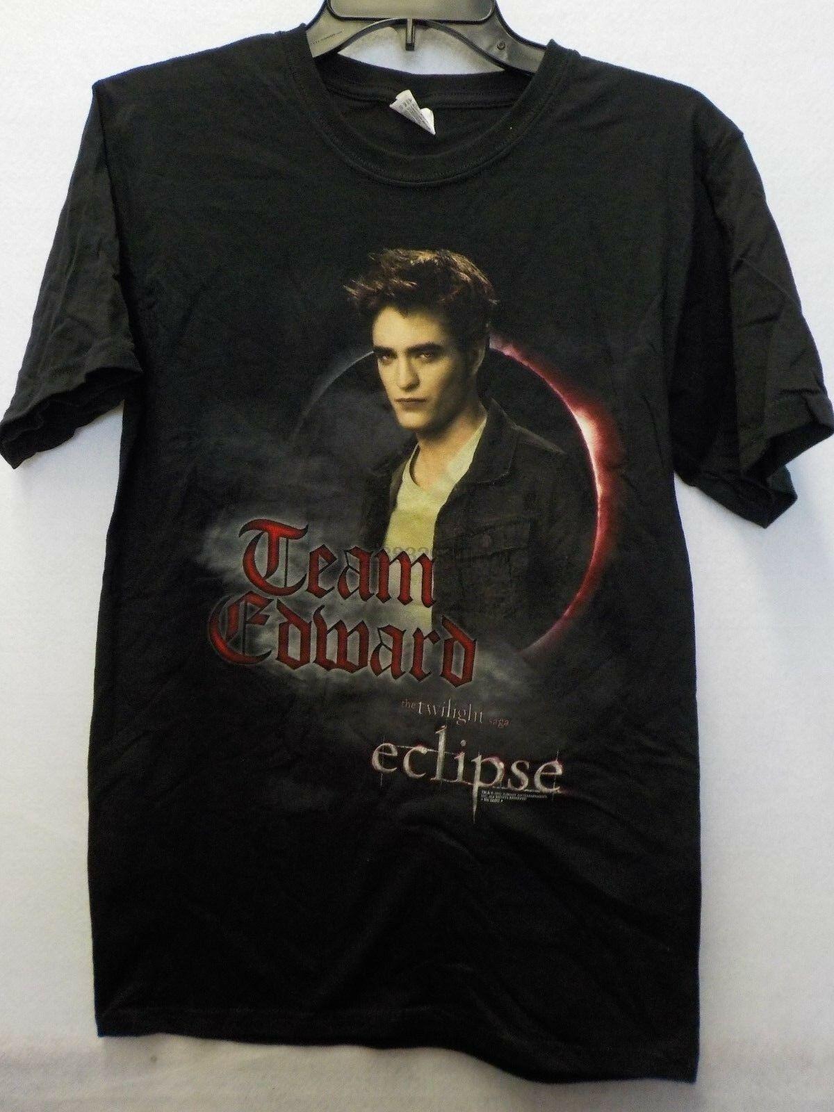 Tshirt gráfico preto de edward da equipe do eclipse da saga do crepúsculo dos homens novo #13435v