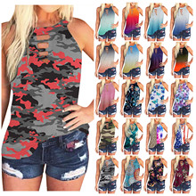 Fast Delivery Women's Top Fashion Tie-dye Sleeveless Tank Top Casual Summer Blouse Clothes Ropa Mujer Haut Femme Tank Tops Camis