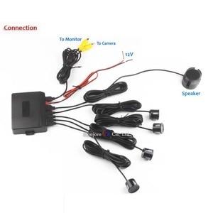 Image 4 - Koorinwoo Dual Core Cpu Parkeer Sensoren Alarm Buzzer Achteruitkijkspiegel Radar Auto Achteruitrijcamera Auto Detector Parktronic Monitor