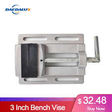 Manual Mini Vise Double Track 3 Inch Bench Vise Aluminium Alloy Table Vise for CNC Drilling Machine Woodworking Power Tools - DISCOUNT ITEM  30% OFF Tools