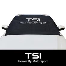 Samochód zimowy szyby śnieg blok obejmuje dla VW Volkswagen TSI T5 T4 CC Tiguan Passat B5 B6 B8 B7 Polo Golf 7 6 akcesoria samochodowe tanie tanio CN (pochodzenie) Polyester Fabric CAXD200135 Car Accessories Snow Block Windshield Cover Silver (Sun Shade) and Black (Winter Cover)