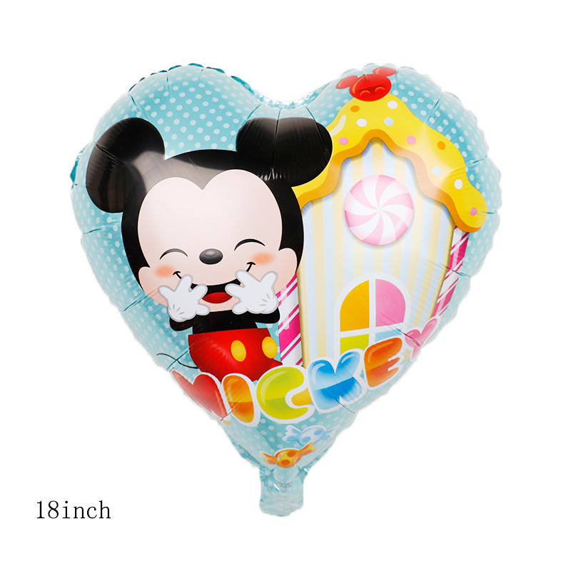 112cm Giant Mickey Minnie Mouse Cartoon Foil Balloon For Birthday Party 12