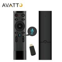 AVATTO Q5 Голосовое управление Fly Air Mouse для игры с гироскопом, 2,4 ГГц беспроводной микрофон Пульт дистанционного управления для Android TV Box, PC