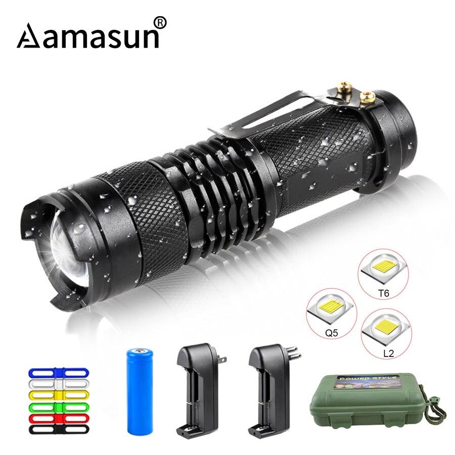 Wasserdichte Tragbare Laterne 18650 14500 Camping Licht T6 L2 Q5 Taschenlampe Einstellbarer Fokus für Wandern Außen Beleuchtung