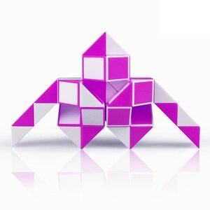 Qiyi 3D Магическая линейка, кубик 24/36/48 сегментов, магический змея, твист куб, головоломка, детские развивающие игрушки для детей