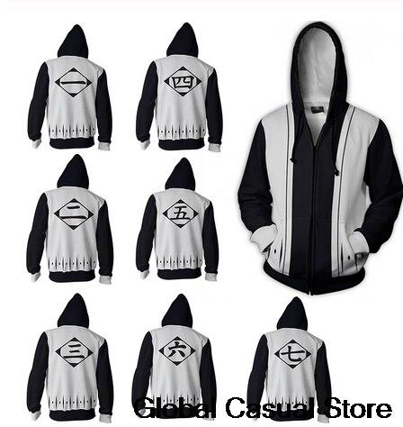 Bleach Customs 3D Zipper Hoodies Women/Men Fashion Long Sleeve Hooded Sweatshirt Cosplay Harajuku Casual Streetwear Clothes