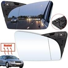 Voor Audi A3 / S3 2004 2008 A4 / S4 2001 2008 A6 / S6 2005 2008 rs4 2006 2008 Vleugel Spiegelglas Verwarmde Deur Zijspiegel Auto Stijl