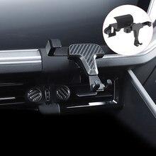 Para vw volkswagen touareg 2019 2020 acessórios do carro de ventilação ar montar suporte smartphone suporte do telefone móvel berço estável